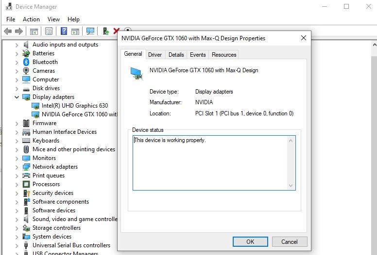 Kiểm tra cấu hình Device Manager