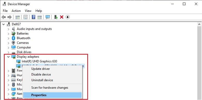 Check cấu hình bằng Device Manager