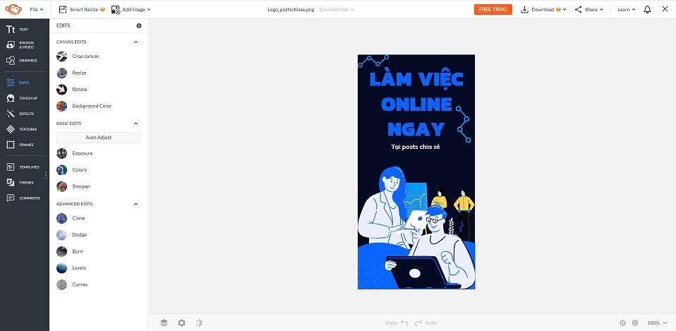 website thiết kế online picmonkey