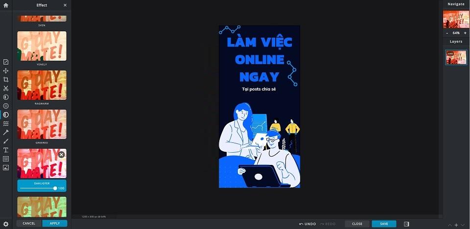 website thiết kế online pixlr