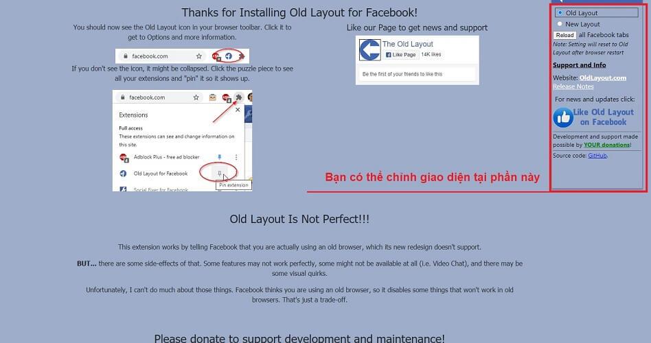 Hướng dẫn sử dụng old layout facebook
