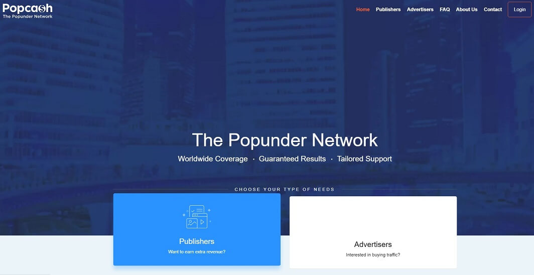 quảng cáo website popcash